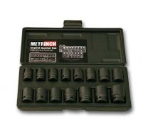 Impact socket set 15pc - MET-2400